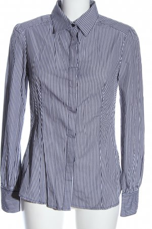 Mango Suit Long Sleeve Shirt blue-white allover print business style