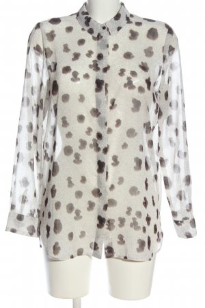 Mango Suit Long Sleeve Shirt white-brown abstract pattern business style