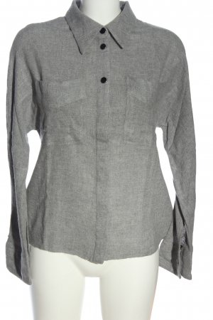 Mango Suit Long Sleeve Shirt light grey flecked casual look