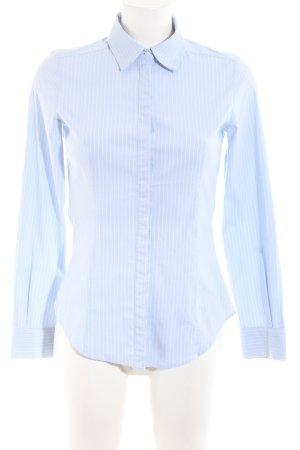 Mango Suit Long Sleeve Shirt blue-white striped pattern business style