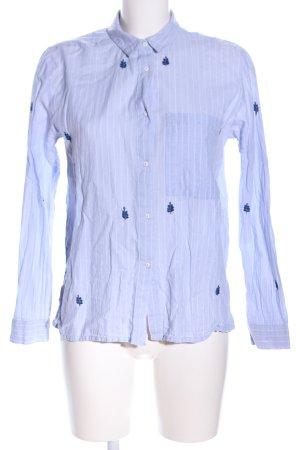 Mango Suit Long Sleeve Shirt blue-white themed print business style