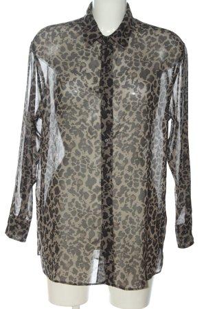 Mango Suit Long Sleeve Shirt black-cream allover print extravagant style