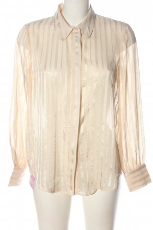 Mango Suit Long Sleeve Shirt nude striped pattern casual look