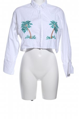 Mango Suit Long Sleeve Shirt themed print casual look