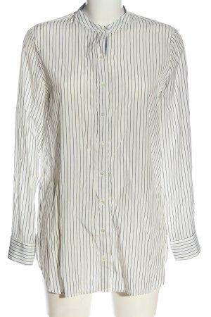 Mango Suit Long Sleeve Shirt white-blue striped pattern business style