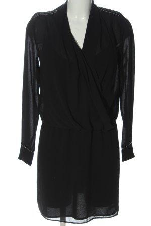 Mango Suit Langarmkleid schwarz Elegant