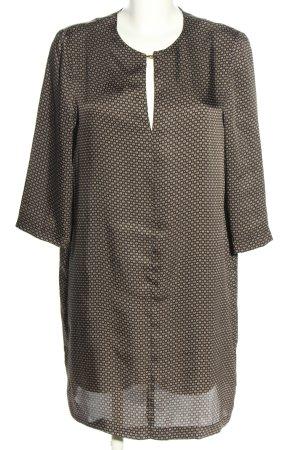 Mango Suit Langarmkleid braun-creme Allover-Druck Elegant