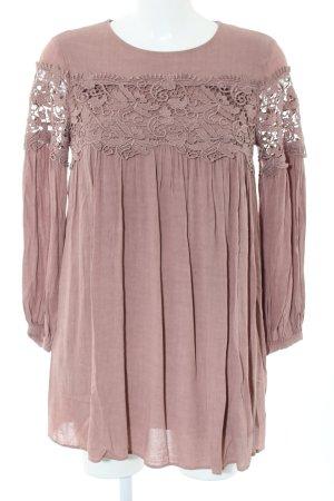 Mango Suit Langarmkleid pink Casual-Look