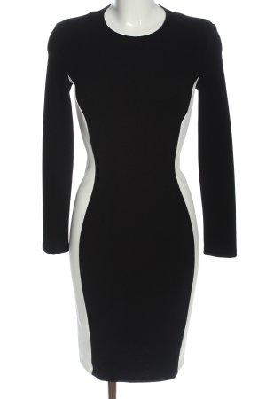 Mango Suit Langarmkleid schwarz-weiß Business-Look