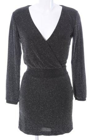 Mango Suit Langarmkleid schwarz meliert Elegant