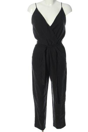 Mango Suit Langer Jumpsuit schwarz Casual-Look