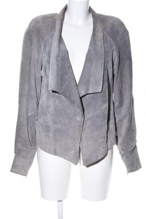 Mango Suit Leather Jacket light grey casual look