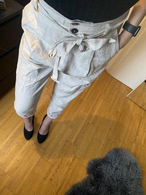 Mango Suit Pantalon en lin crème lin