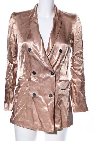Mango Suit Long-Blazer bronzefarben extravaganter Stil