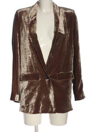 Mango Suit Long-Blazer braun Elegant