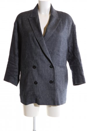 Mango Suit Long-Blazer hellgrau Casual-Look