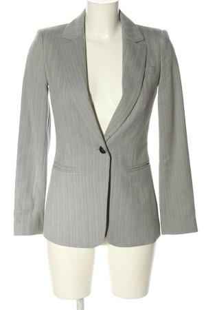 Mango Suit Long-Blazer hellgrau Streifenmuster Business-Look