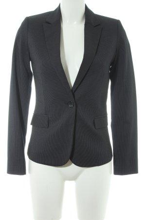 Mango Suit Long-Blazer dunkelblau-creme Business-Look