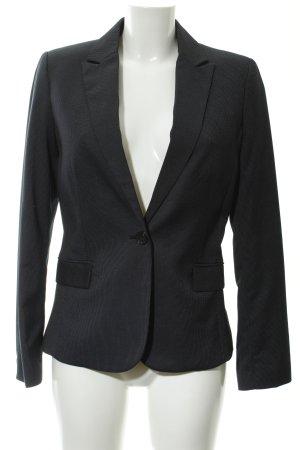 Mango Suit Long-Blazer dunkelblau-weiß Business-Look