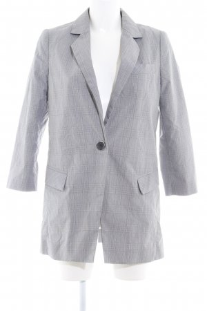 Mango Suit Long-Blazer grau Glencheckmuster Boyfriend-Look