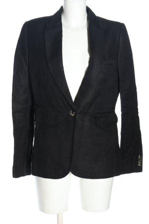 Mango Suit Long-Blazer schwarz Business-Look