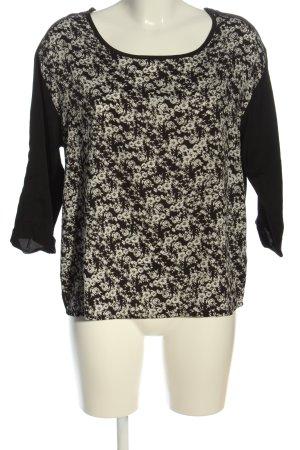Mango Suit Longsleeve schwarz-weiß Blumenmuster Casual-Look