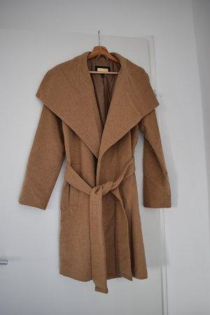 Mango Suit Cappotto in lana multicolore Tessuto misto