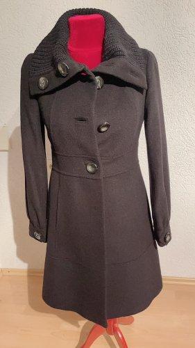Mango Suit Winter Coat black