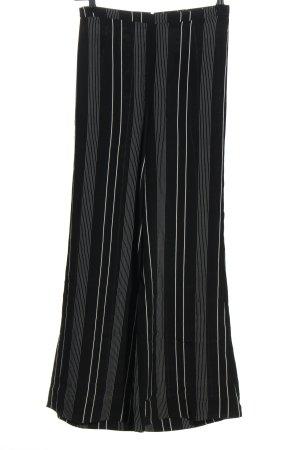 Mango Suit Pantalone Marlene nero-bianco stampa integrale stile casual