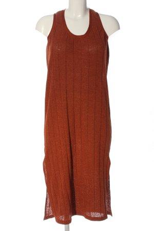 Mango Suit Midikleid hellorange-schwarz meliert Casual-Look