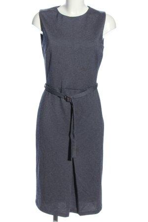 Mango Suit Midikleid blau meliert Business-Look