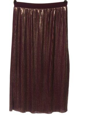 Mango Suit Spódnica midi czerwony-złoto Elegancki