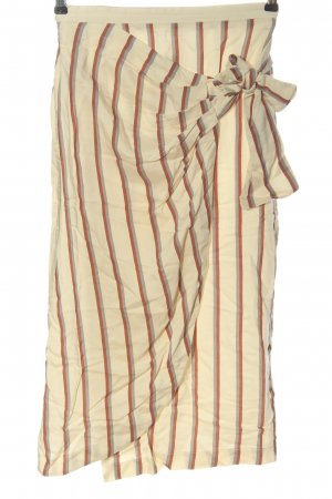 Mango Suit Midirock creme Streifenmuster Casual-Look
