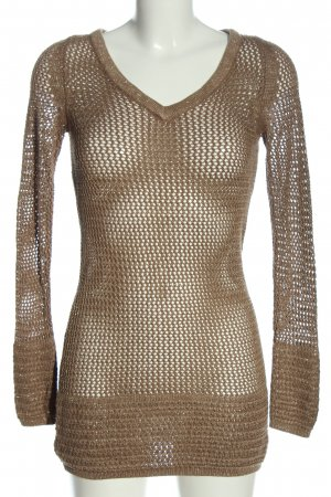 Mango Suit Crochet Sweater brown extravagant style