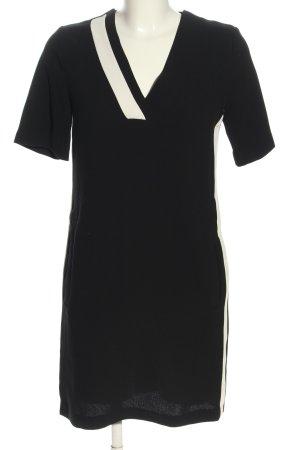 Mango Suit Minikleid schwarz-weiß Business-Look