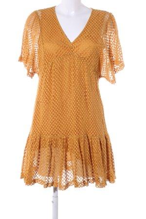 Mango Suit Minikleid hellorange grafisches Muster Casual-Look