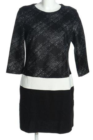Mango Suit Minikleid schwarz-weiß Karomuster Business-Look