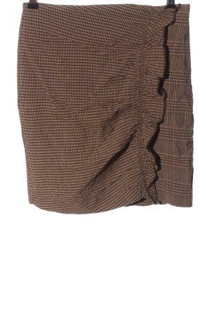 Mango Suit Minirock braun-schwarz Karomuster Casual-Look