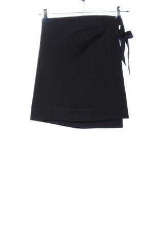 Mango Suit Minirock schwarz-weiß Streifenmuster Business-Look