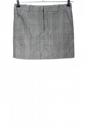 Mango Suit Minirock hellgrau Karomuster Casual-Look