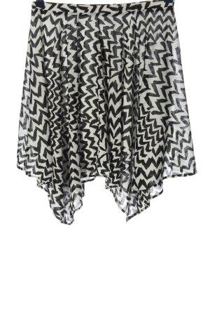 Mango Suit Minirock weiß-schwarz abstraktes Muster Casual-Look