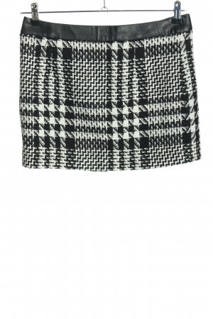 Mango Suit Minirock schwarz-weiß Allover-Druck Casual-Look