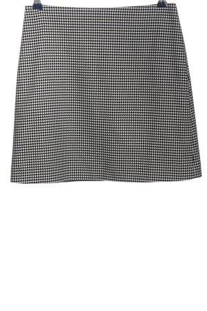 Mango Suit Minirock weiß-schwarz Webmuster Business-Look