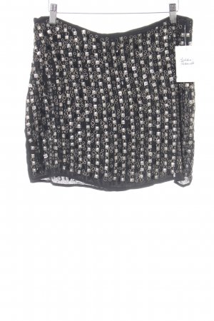 Mango Suit Minirock schwarz Metall-Optik