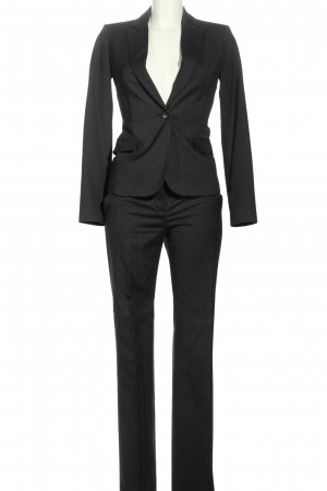 Mango Suit Pinstripe Suit black-white business style