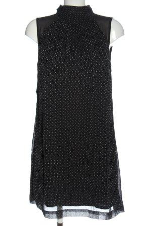 Mango Suit Halter Dress black-white spot pattern casual look