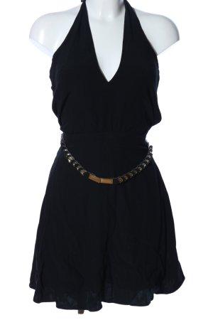 Mango Suit Neckholderkleid schwarz Elegant