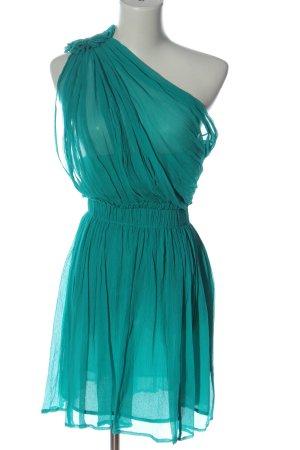 Mango Suit Robe asymétrique turquoise élégant