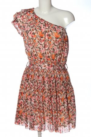 Mango Suit One Shoulder Dress flower pattern casual look