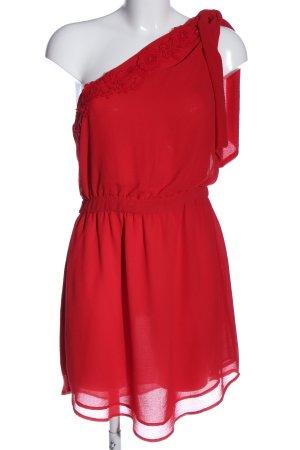 Mango Suit Robe asymétrique rouge style décontracté